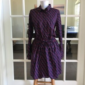 ❤️GAP design&crafted navy with pink arrow dress❤️